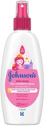 Johnson's Kids Conditioner Spray Shiny Drops - Детски спрей балсам без отмиване за блясък на косата - олио