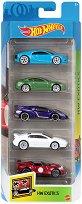 Hot Wheels - Exotics - Комплект от 5 метални колички - играчка