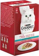 Gourmet Mon Petit Fish Selection - Рибни филета в сос за котки в зряла възраст - опаковка от 6 пауча x 50 g - гребен