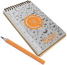 Водоустойчив бележник за спелеология - Комплект с молив