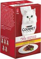 Gourmet Mon Petit Poultry Selection - Птиче месо в сос за котки в зряла възраст - опаковка от 6 пауча x 50 g - гребен