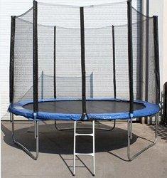 Батут - Комплект със защитна мрежа, стълба и дъждобран - играчка