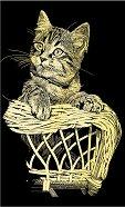 Коте - Скреч картина с размери 11 x 18 cm