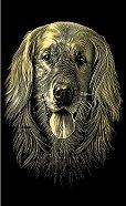 Куче - Скреч картина с размери 11 x 18 cm -