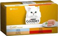 Gourmet Gold Mousse - Пастети за котки в зряла възраст - опаковка от 4 консерви x 85 g -