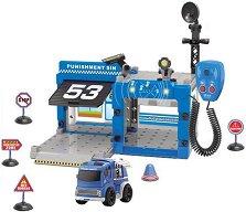 Полицейски участък - Сглобяем комплект от 67 части - играчка