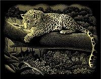 Леопард - Скреч картина с размери 20 x 25 cm