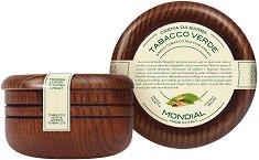 Mondial Tabacco Verde Luxury Shaving Cream - Луксозен крем за бръснене с аромат на зелен тютюн -