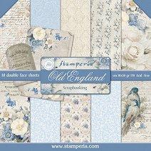 Хартии за скрапбукинг - Стара Англия - Комплект от 10 листа с размери 30.5 х 30.5 cm