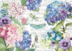 Декупажна хартия - Пролетни цветя - Размери 50 x 35 cm