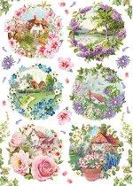 Декупажна хартия - Пролет - Формат А4