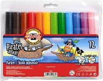 Маркери за рисуване - Пирати - Комплект от 12 цвята