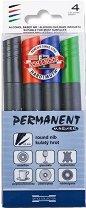 Перманентни маркери - Комплект от 4 цвята