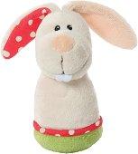 """Зайче - Мека бебешка играчка с дрънкалка от серията """"NICI: My first NICI"""" - творчески комплект"""
