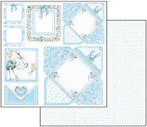 Хартия за скрапбукинг - Бебешка картинка - Размери 30.5 х 30.5 cm