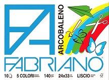 Блок с цветна хартия - Arcobaleno - Комплект от 10 листа