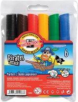 Маркери за рисуване - Пирати - Комплект от 6 цвята