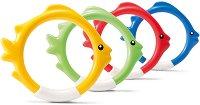 Подводни рингове - Риби - Комплект от 4 броя -