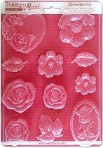 3D Форма - Рози - Размери 21 x 29.7 cm