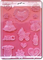 3D форма - Бебешко парти - Размери 21 x 29.7 cm