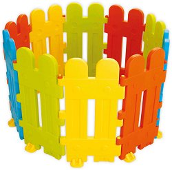 Сглобяема ограда за детски кът - Комплект  от 10 цветни модула - играчка