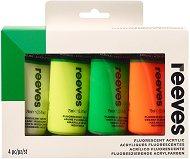 Акрилна флуоресцентна боя - Комплект от 4 цвята x 75 ml