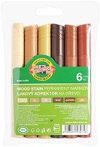 Перманентени маркери за дърво - Комплект от 6 цвята