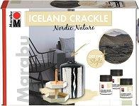 Напукваща се боя и медиум - Iceland Crackle - Комплект за декорация