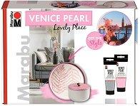 Акрилна боя с перлен ефект - Lovely Place - Комплект за декорация