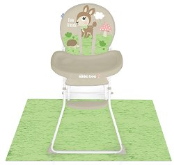 Детско столче за хранене - My Forest - Комплект с постелка за пода -