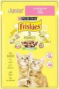 Friskies Junior Cat with Chicken in Sauce - Пилешко месо в сос за котета на възраст от 6 седмици до 1 година - пауч 100 g - продукт