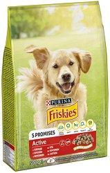 Friskies Dog Active Vitafit - Суха храна с телешко месо за активни кучета в зряла възраст - чувал от 10 kg -