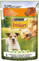 Friskies Adult Dog Vitafit with Chicken and Carrots in Sauce - Пилешко месо и моркови в сос за кучета в зряла възраст - пауч 100 g -