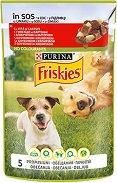 Friskies Adult Dog Vitafit with Beef and Potatoes in Sauce - Говеждо месо и картофи в сос за кучета в зряла възраст - пауч 100 g -