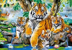 Тигри на брега на поток - пъзел