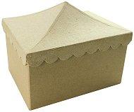 Кутия от папиемаше - Тента - Предмет за декориране с размери 13.5 / 15 / 18.5 cm