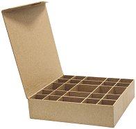 Кутия от папиемаше с 25 разделения - Предмет за декориране с размери 21 / 20 / 4.3 cm