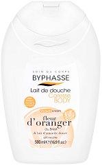 Byphasse Orange Blossom And Sweet Almond Milk Shower Cream - Душ крем с портокалов цвят и бадемово масло - шампоан