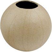 Фигура от папиемаше - Кръгла ваза - Предмет за декориране