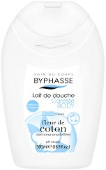 Byphasse Cotton Flower Shower Cream - Душ крем с екстракт от памук - олио