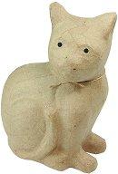 Фигура от папиемаше - Котка - Предмет за декориране с размери 21 / 11 / 25 cm