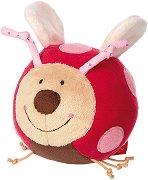 """Мека топка  - Калинка - Плюшена играчка с дрънкалка от серията """"PlayQ"""" -"""