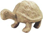Фигура от папиемаше - Костенурка - Предмет за декориране с размери 16 / 9.5 / 10 cm