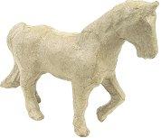 Фигура от папиемаше - Кон - Предмет за декориране с размери 13 / 4 / 11 cm