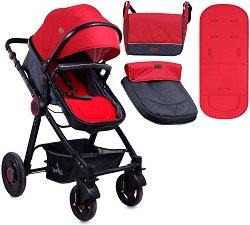 Комбинирана бебешка количка - Alexa - С 4 колела -