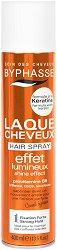 Byphasse Hair Spray Shine Effect Strong Hold - Лак за коса за блясък с кератин и силна фиксация - продукт