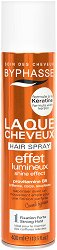 Byphasse Hair Spray Shine Effect Strong Hold - Лак за коса за блясък с кератин и силна фиксация - спирала