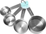 Мерителни чашки от неръждаема стомана - Комплект от 4 броя