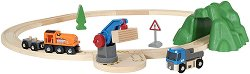Товарен влак и камион - играчка