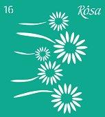 Самозалепващ шаблон - Цветя - Размери 9 х 10 cm